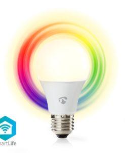 Nedis WiFi Smart LED lampa. Dimmer. RGB. E27 6w